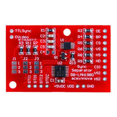 Breakout Board BB-LMH1980 Sync Separator Schematico