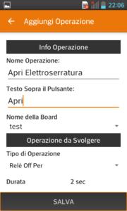 App Android Operazione Apertura Elettroserratura