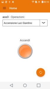 Home App Ace Controllo Relè