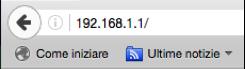 Accesso al Router tramite browser