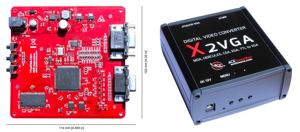 x2VGA PCB e case